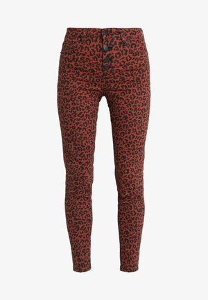 LIZZIE ANIMAL PRINT BUTTON FLY - Jeansy Skinny Fit - rust