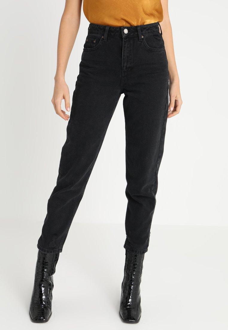 Miss Selfridge - MOM ARLOW - Jeans Relaxed Fit - black