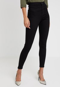 Miss Selfridge - STEFFI - Jeansy Skinny Fit - black - 0