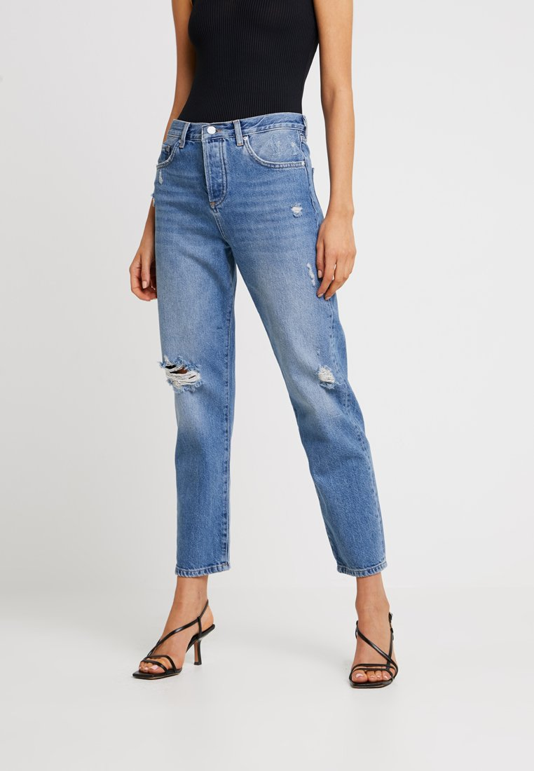 Miss Selfridge - RECYCLED MID RIP - Relaxed fit jeans - dark blue