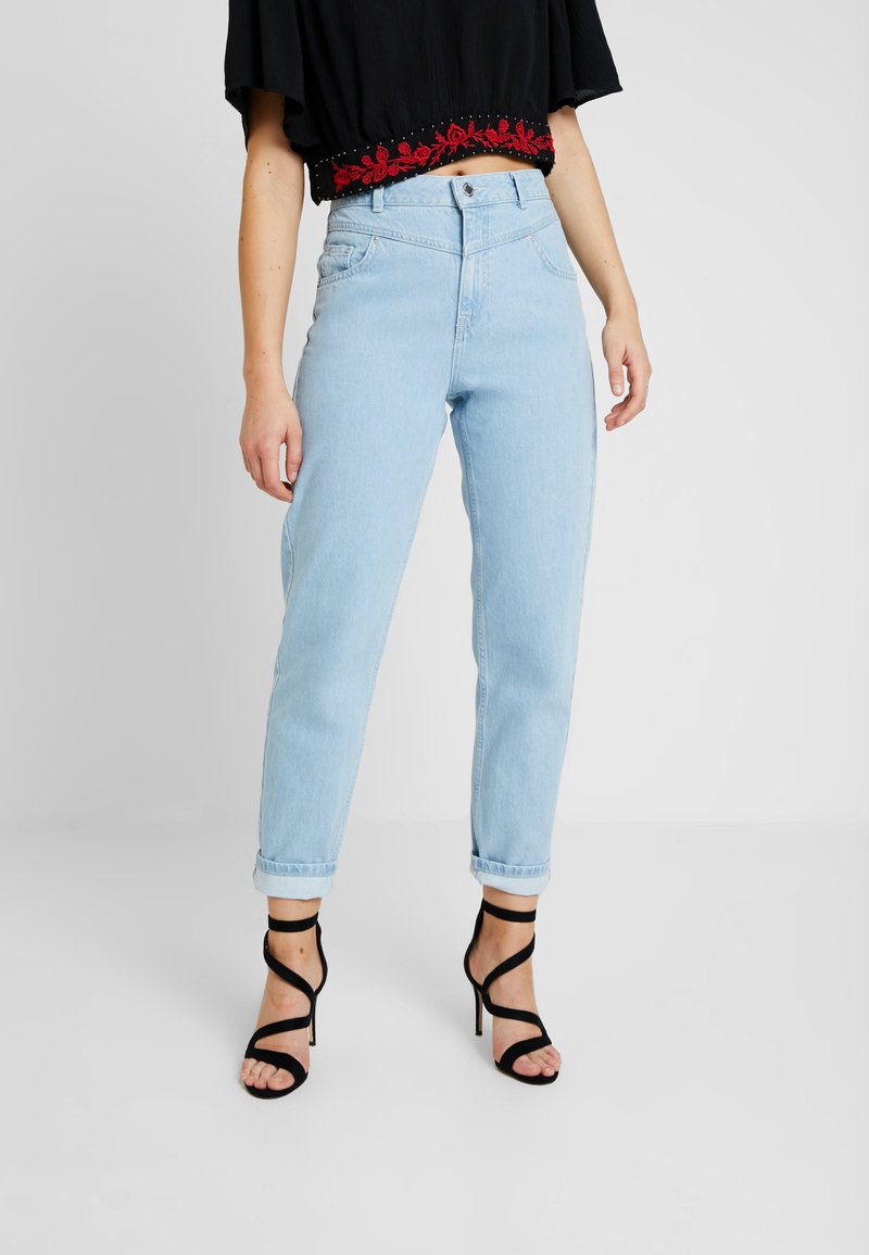 Miss Selfridge - WAIST SEAM MOM  - Džíny Relaxed Fit - blue