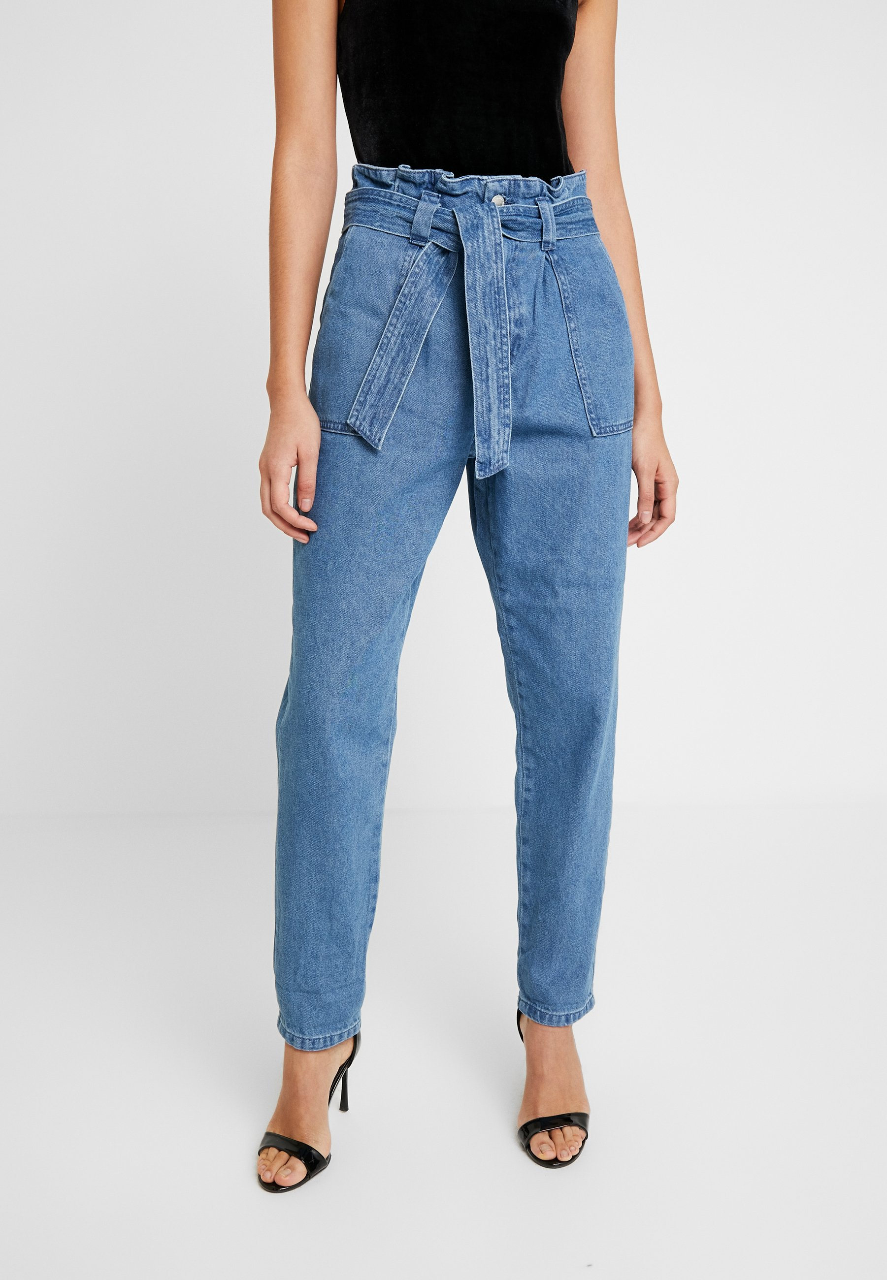 Miss Selfridge PAPERBAG - Jeans baggy blue