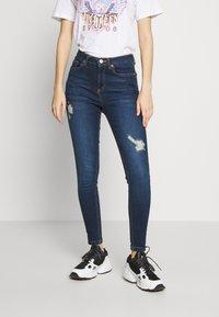 Miss Selfridge - JELLY RIPPED LIZZIE - Jeans Skinny Fit - blue - 0