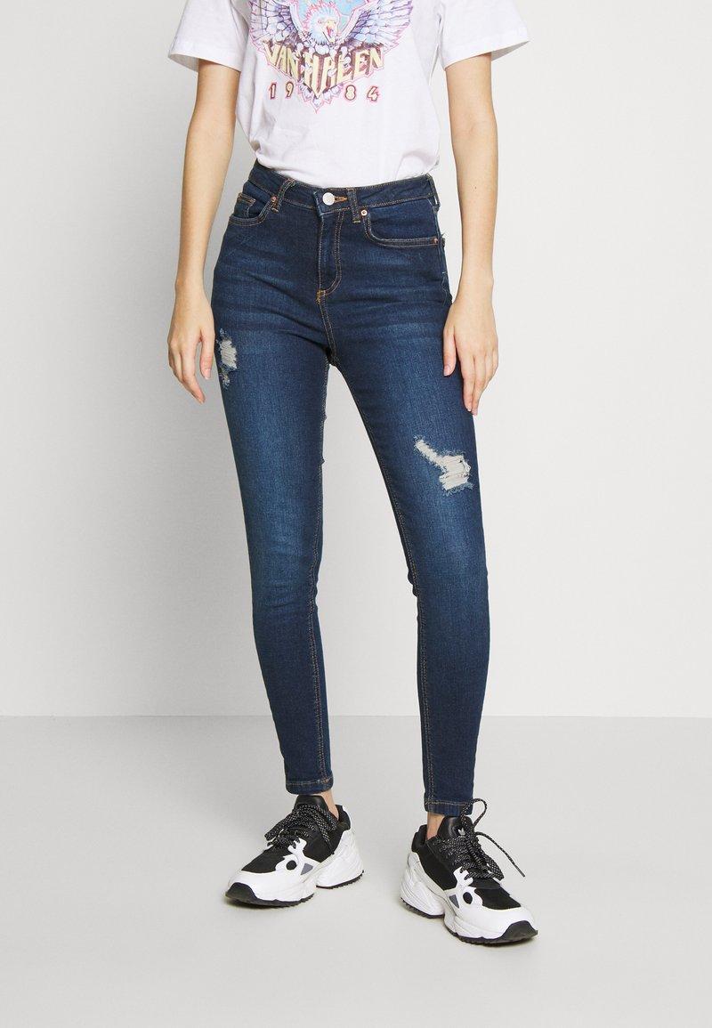 Miss Selfridge - JELLY RIPPED LIZZIE - Jeans Skinny Fit - blue