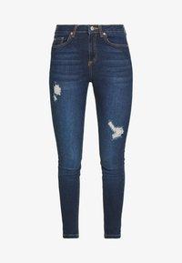 Miss Selfridge - JELLY RIPPED LIZZIE - Jeans Skinny Fit - blue - 4