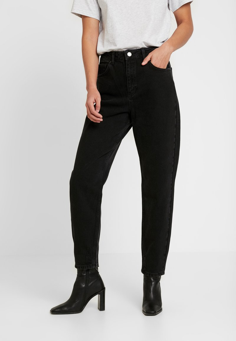 Miss Selfridge - ARLOW MOM - Jeans relaxed fit - black