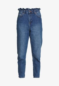 Miss Selfridge - FRILL TOP MOM - Relaxed fit jeans - mid blue - 4