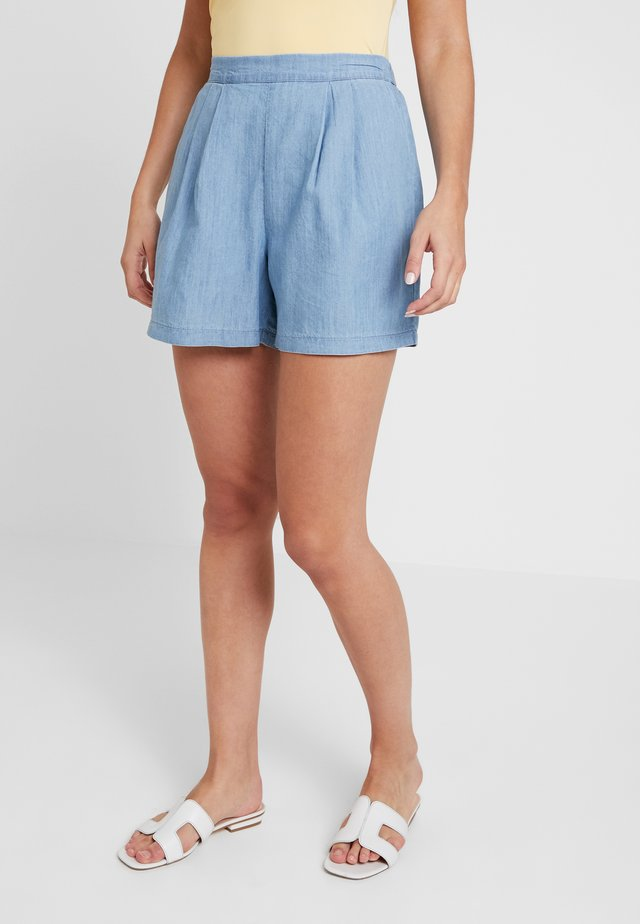 FLAT FRONT - Shorts - blue