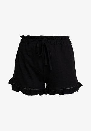 RUFFLE HEM - Shorts - black