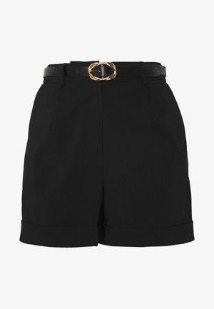 BELTED  - Shorts - black