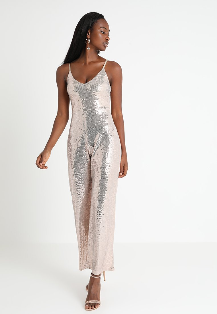 Miss Selfridge - ALL OVER SEQUIN CROPPED - Overall / Jumpsuit /Buksedragter - gold