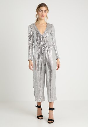 ALL OVER SEQUIN CULOTTE - Mono - silver