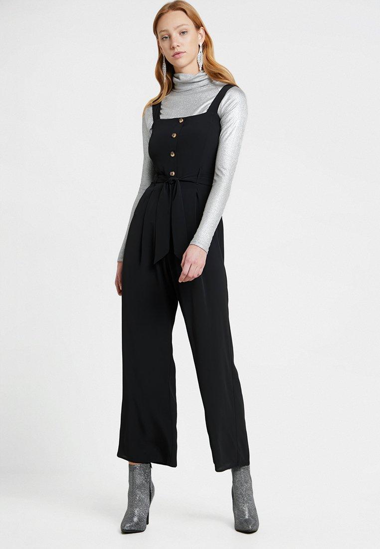 Miss Selfridge - THROUGH PINNY - Jumpsuit - black