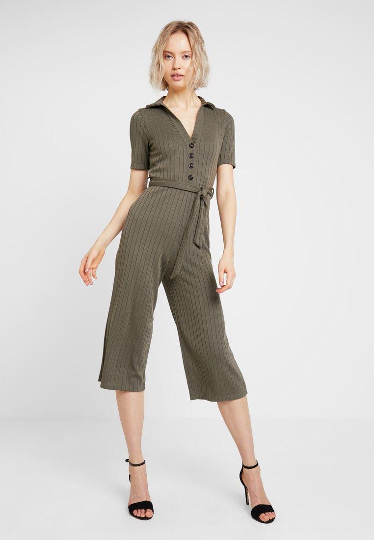 Miss Selfridge - KHAKI COLLAR - Jumpsuit - khaki