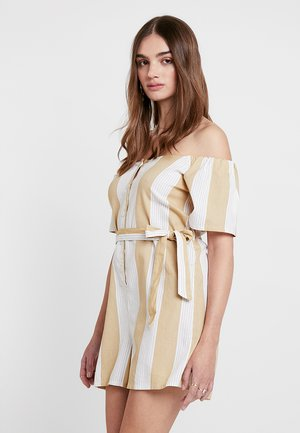 BARDOT STRIPE - Tuta jumpsuit - cream