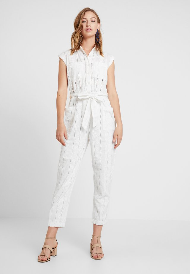 UTILITY BRODERIE - Jumpsuit - ivory