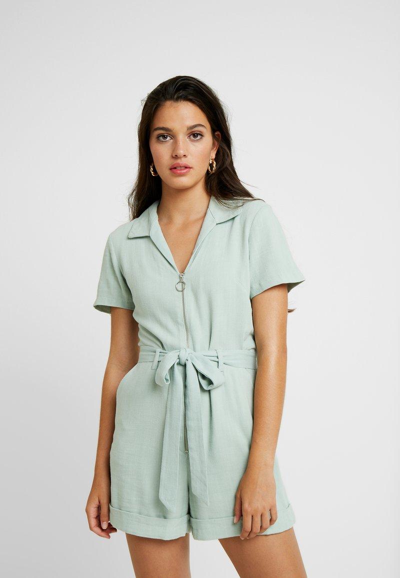 Miss Selfridge - ZIP THROUGH UTILITY - Jumpsuit - mint