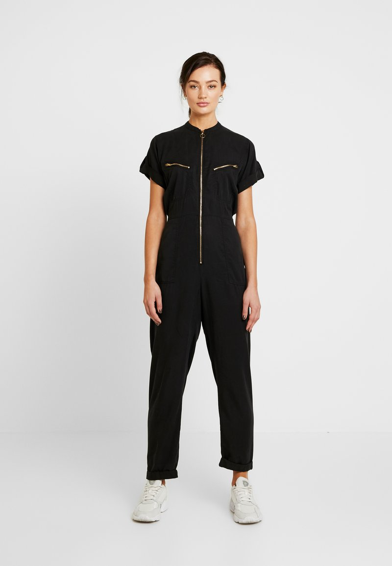 Miss Selfridge - ZIP DETAIL  - Overall / Jumpsuit - black
