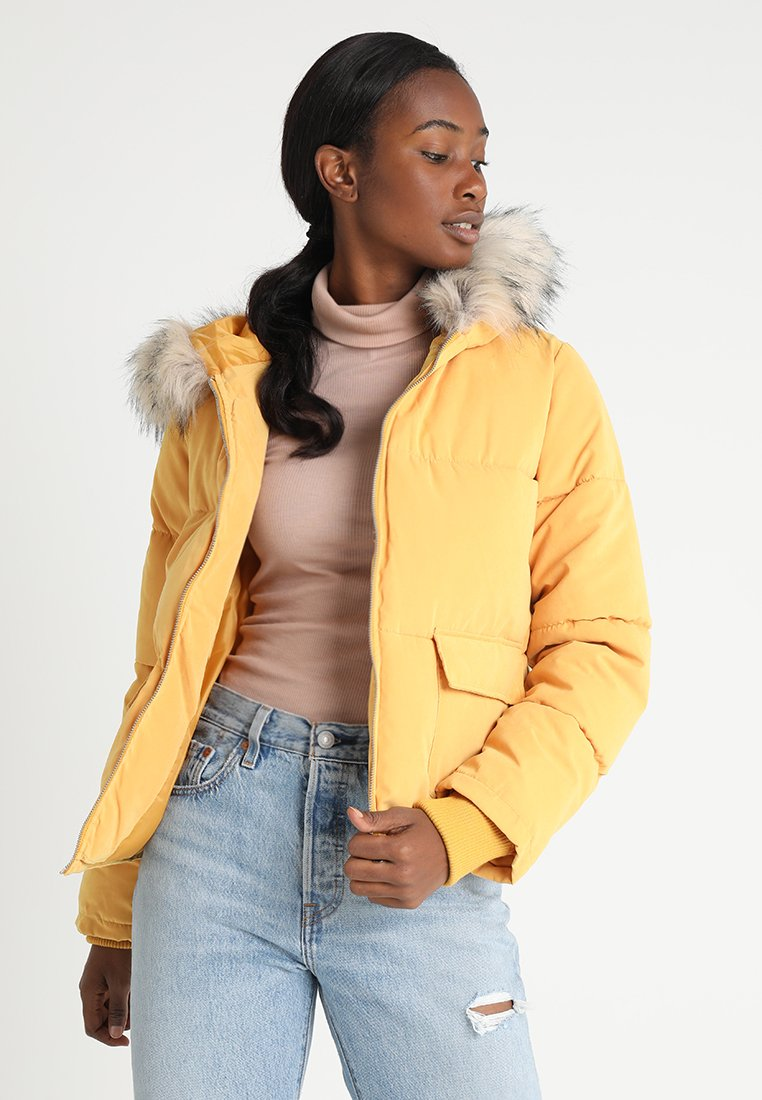 Miss Selfridge - TRIM PUFFER - Winter jacket - ochre