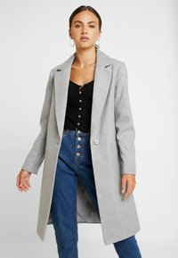 Miss Selfridge - Classic coat - grey - 0