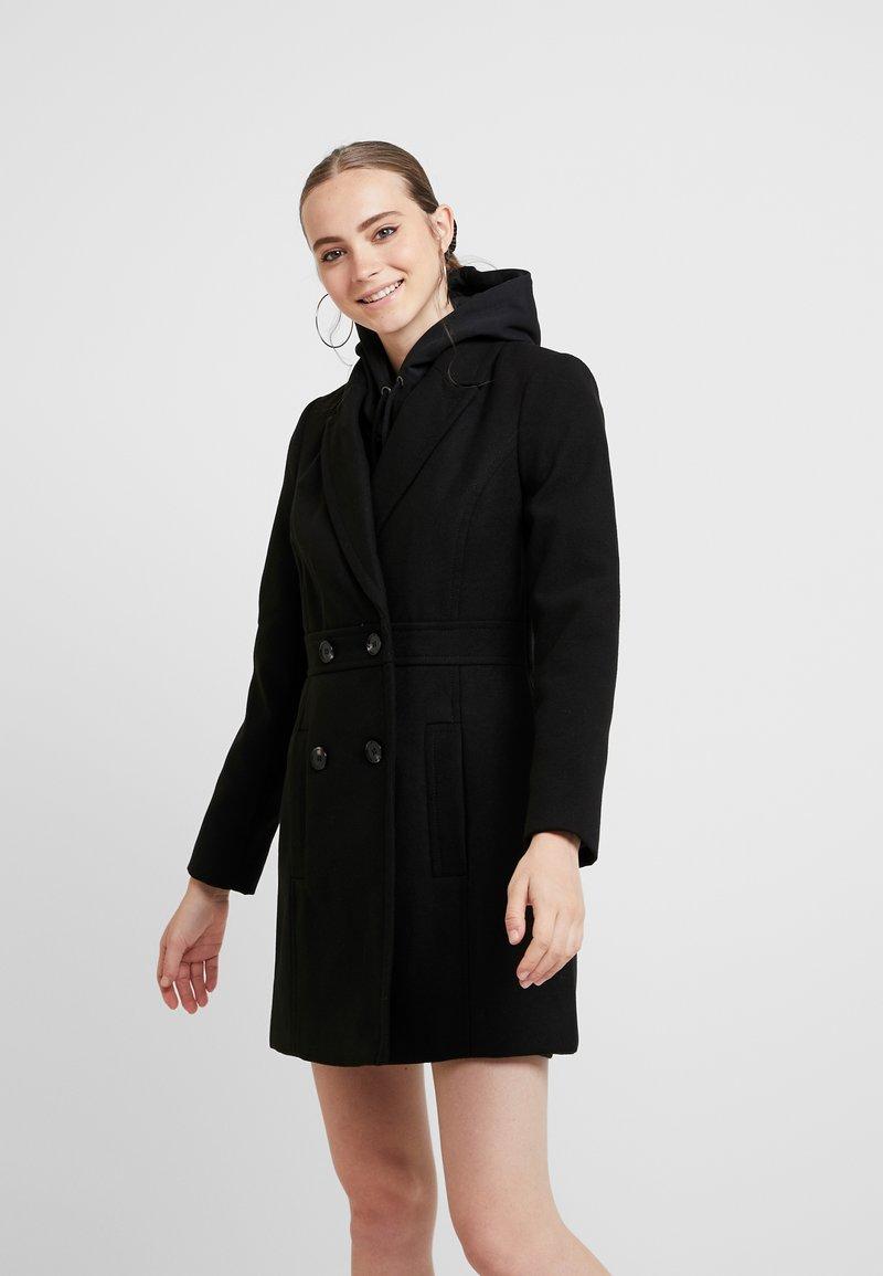 Miss Selfridge - GEORGIA PEA COAT UPDATED - Kurzmantel - black exclusive