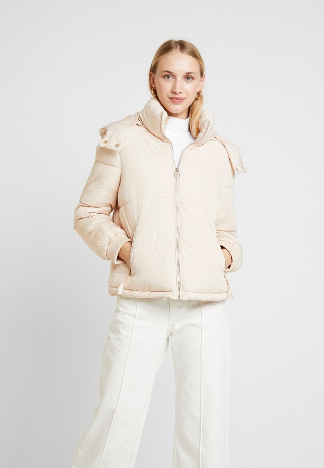 SPORTS O RING PULL PUFFER REMOVABLE HOOD - Winter jacket - buttermilk
