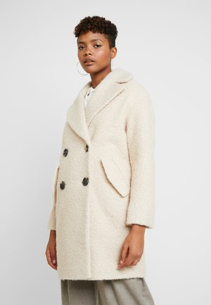 BOUCLE BUTTON OVERCOAT - Cappotto classico - cream