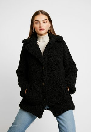 TEXTURE COAT - Abrigo - black