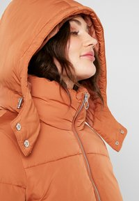 Miss Selfridge - SPORTS O RING PULL PUFFER REMOVABLE HOOD - Lehká bunda - rust - 4