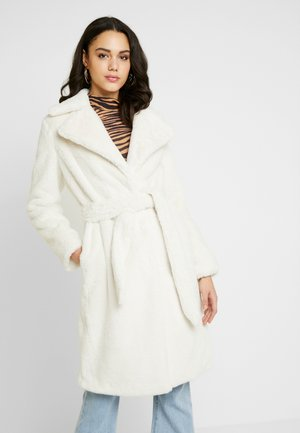 BELTED LONGLINE WRAP COAT - Cappotto invernale - cream