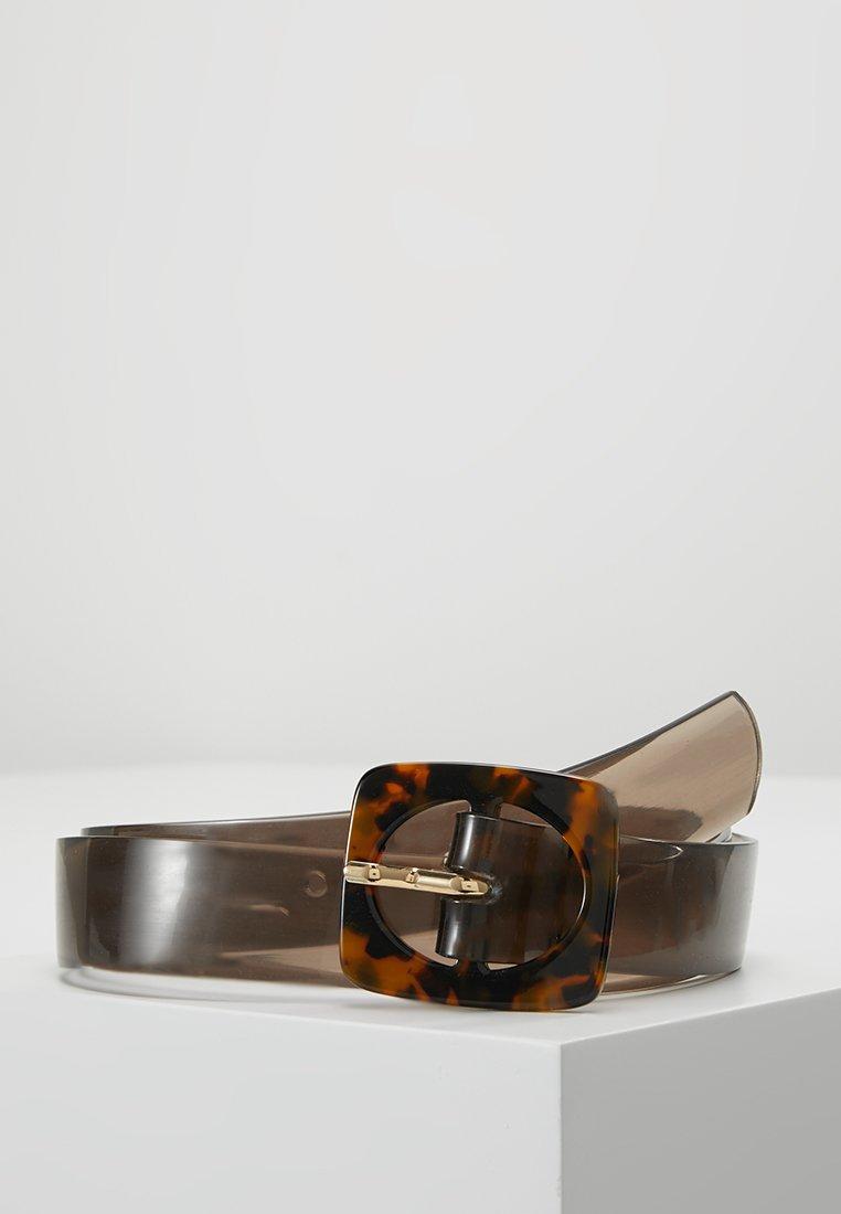 Miss Selfridge - SQUARE TORT BUCKLE BELT  - Cintura - brown