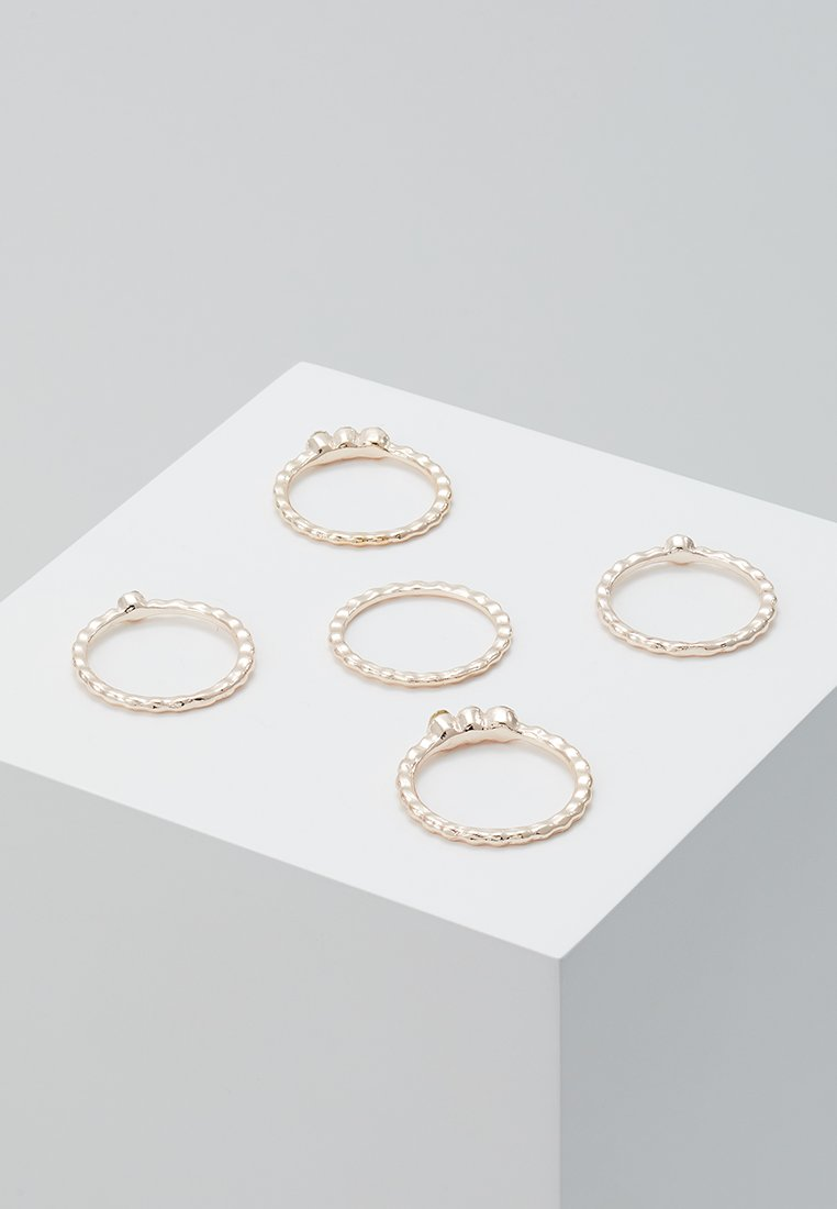 Miss Selfridge - BOBBLE STACK 5 PACK - Ringe - rose gold-coloured