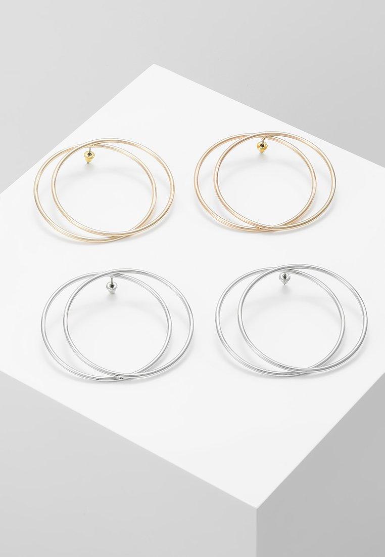 Miss Selfridge - FRONT FACE TWIST HOOP 2 PACK - Earrings - gold-coloured