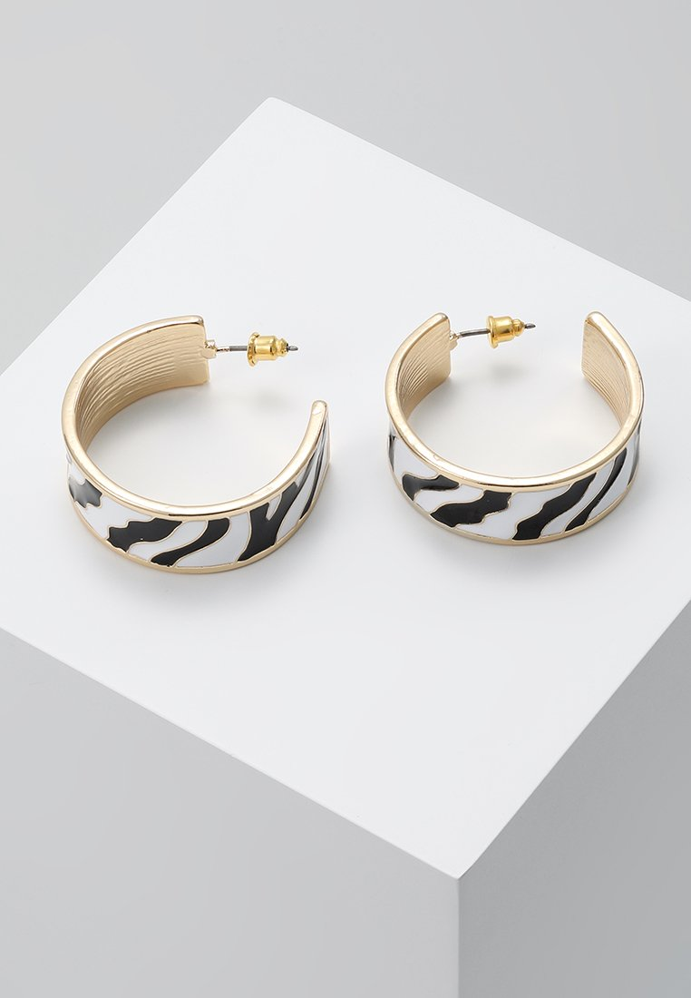 Miss Selfridge - ZEBRA HOOP - Ohrringe - gold-coloured