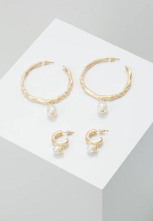 HOOP SET - Earrings - gold-coloured