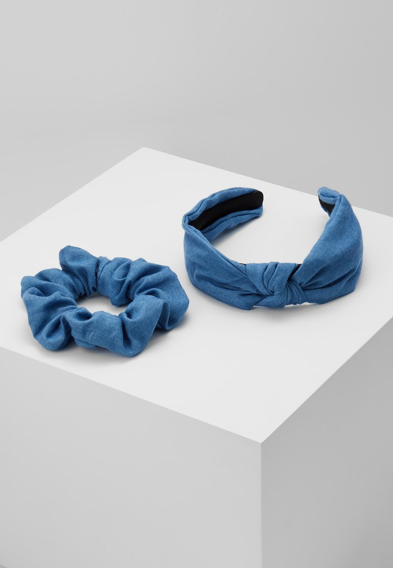 Miss Selfridge - HEADBAND AND SCRUNCHIE 2 PACK - Haar-Styling-Accessoires - blue