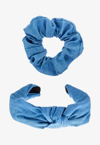 Miss Selfridge - HEADBAND AND SCRUNCHIE 2 PACK - Hårstyling-accessories - blue - 3