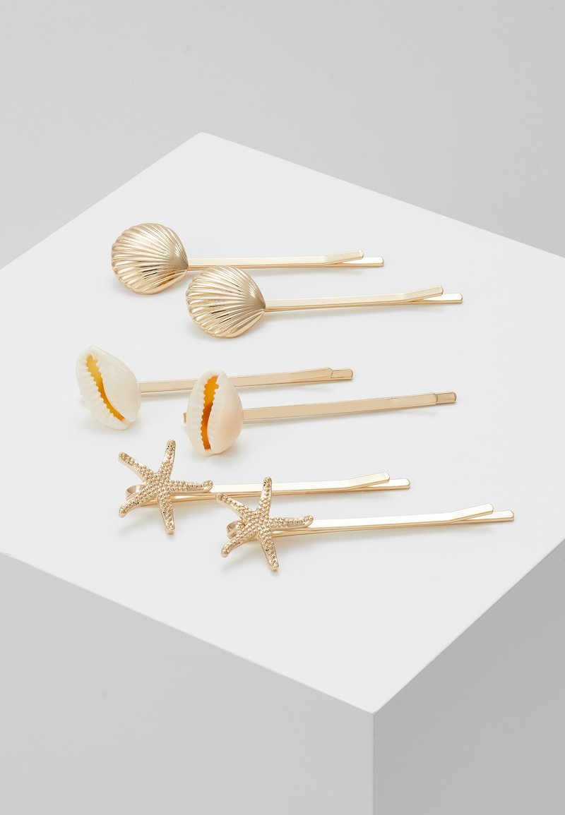 Miss Selfridge - STARFISH SLIDES 3 PACK - Hair styling accessory - gold-coloured