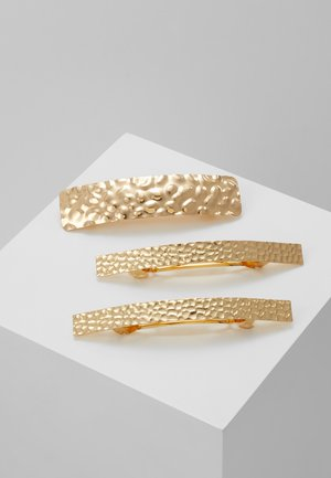 THE TRUNKY HAMMERED CLIP 3 PACK - Hair styling accessory - gold-coloured