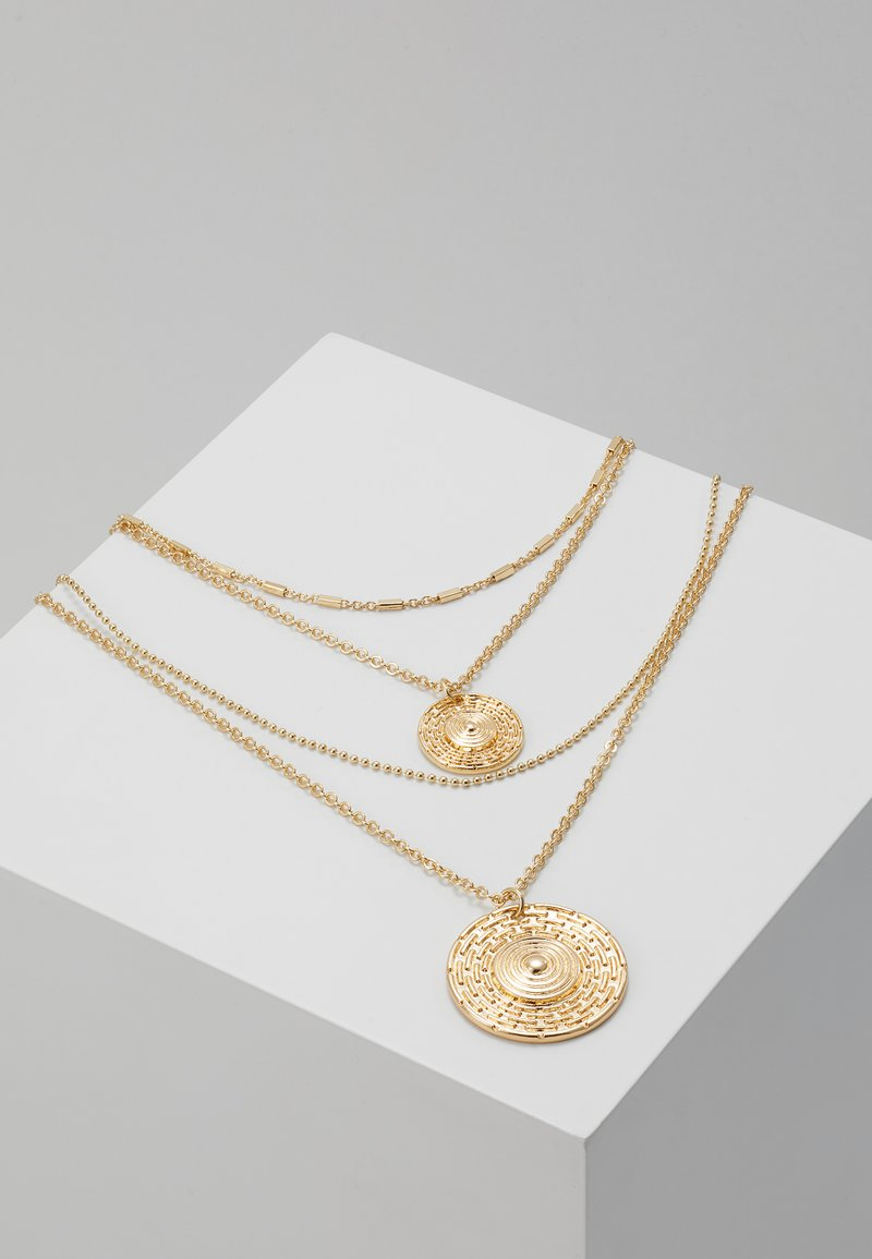 Miss Selfridge - EGYPTION COIN DOUBLE ROW NECKLACE - Halskette - gold-coloured