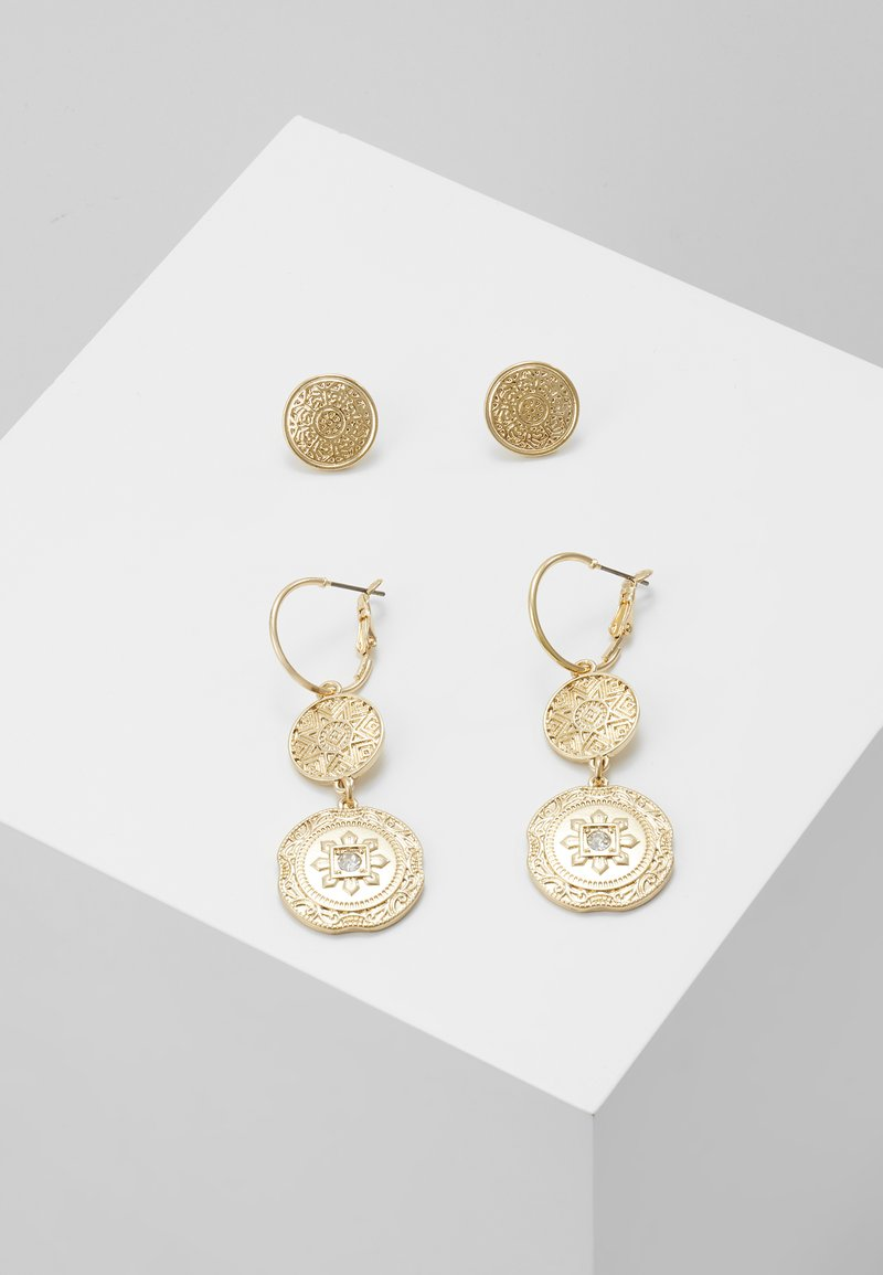 Miss Selfridge - DOUBLE COIN 2 PACK - Earrings - gold-coloured