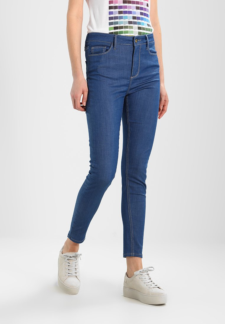 Monkee Genes - JANE HIGH WAISTED SILHOUETTE - Jeans Skinny Fit - sea blue