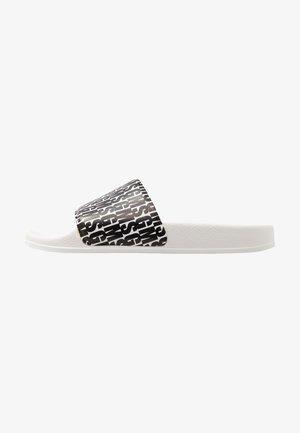 LOGO POOL SLIDE - Pantolette flach - black/white