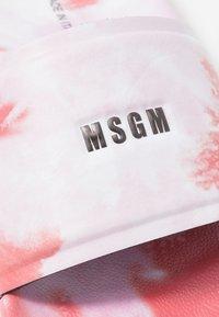 MSGM - CIABATTA DONNA WOMANS SLIDE - Sandaler - red/pink - 5