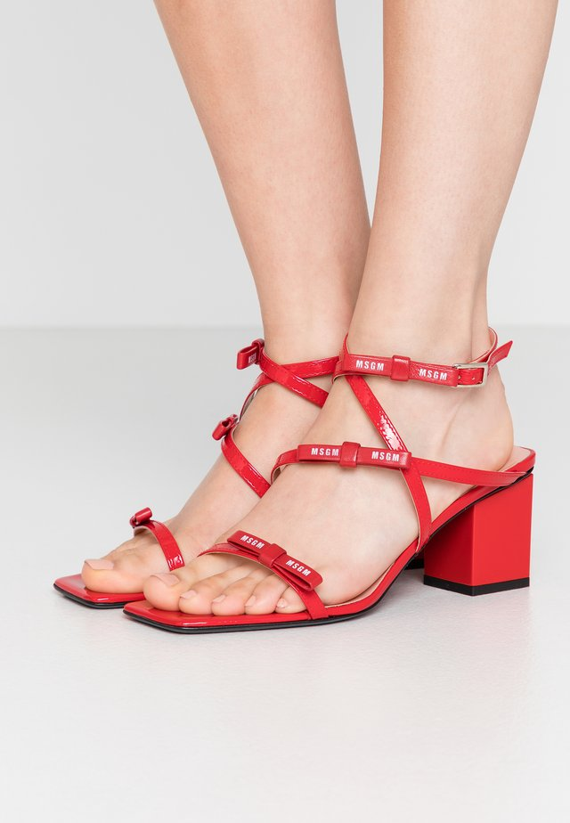 DONNA WOMAN`S - Sandals - red