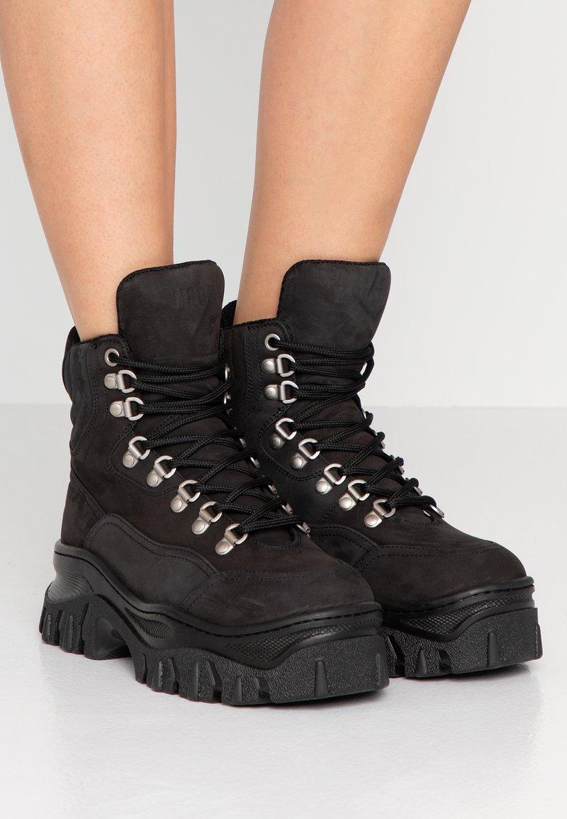 MSGM - Platform ankle boots - black