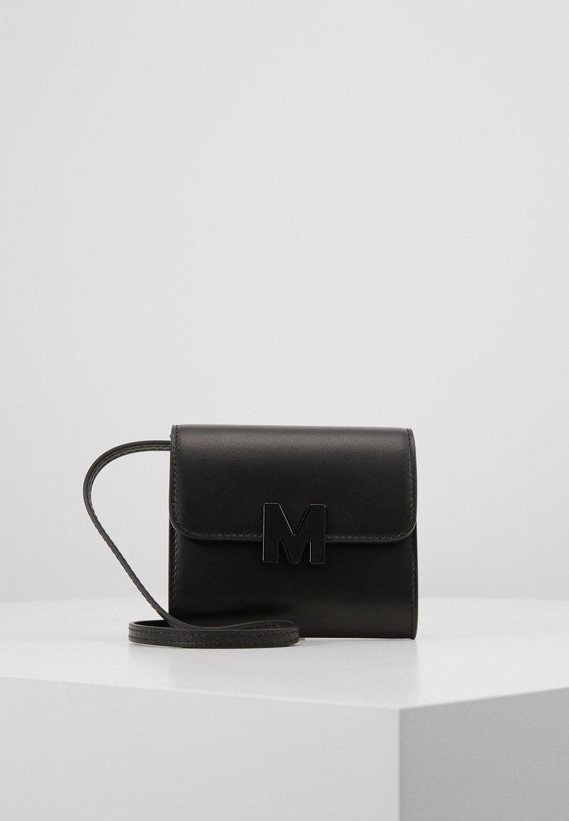 MSGM - BORSA DONNA BRAND MINI BAG - Across body bag - black