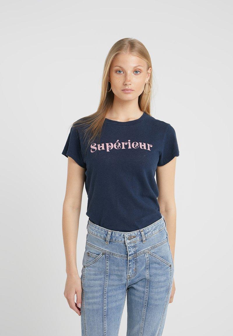 Mother - LITTLE SINFUL TEE - T-shirt imprimé - navy