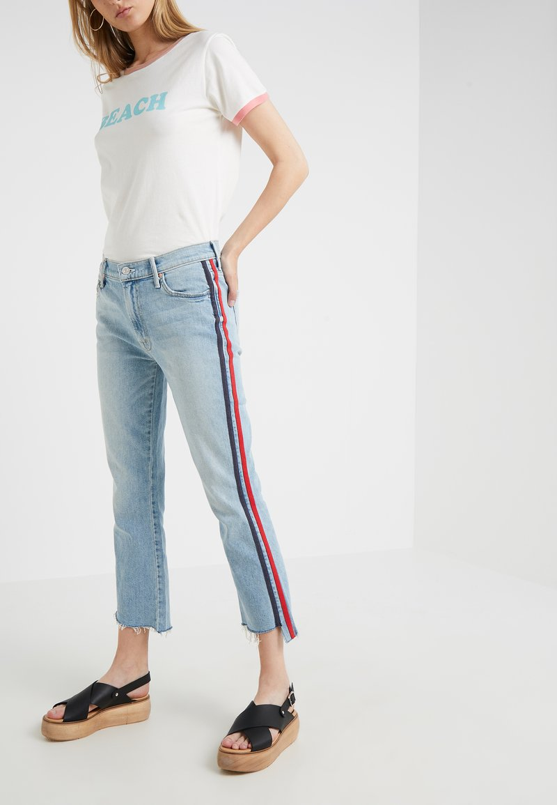 Mother - THE INSIDER CROP - Jeans Skinny Fit - thanks again racer