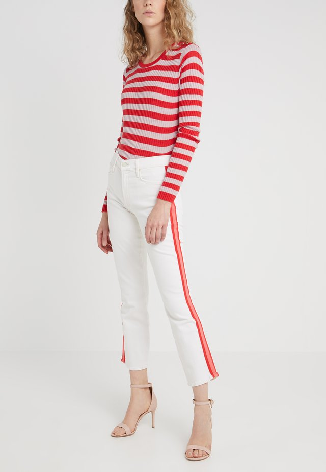 THE MID RISE DAZZLER CROP - Jean slim - wipping cream/pink